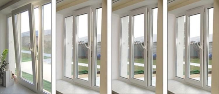 Позиции проветривания металлопластикового окна