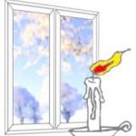 продувание окна
