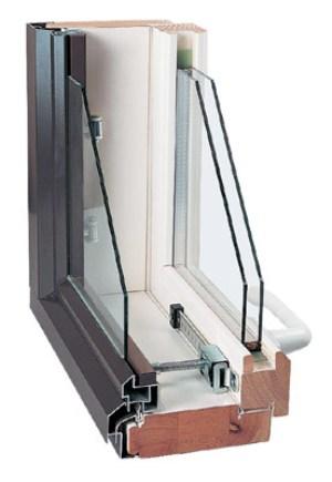 Деревянные-алюминиевые финские окна